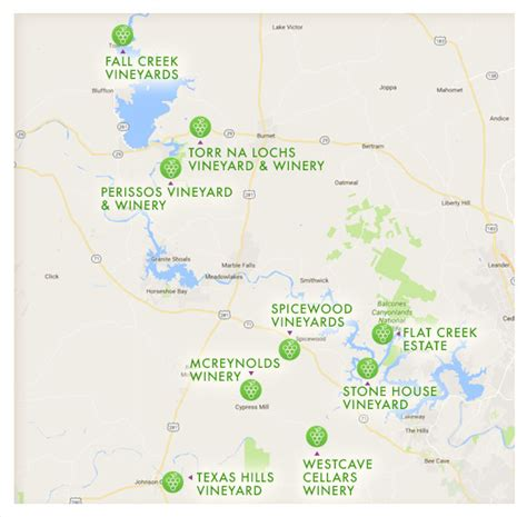 texas wineries map texas wine month in the highland lakes