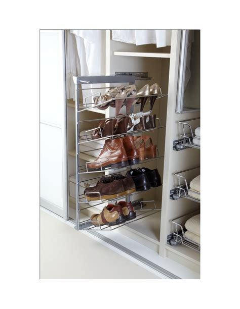 slide out shoe storage shoe rack pull out system five tiers side mounting