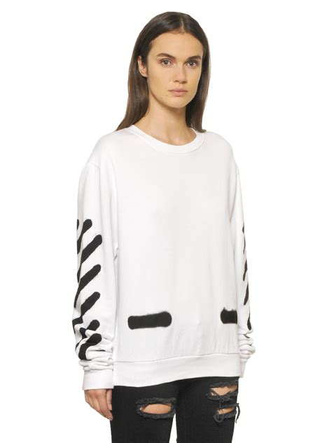 White Color Paint Sweater white cotton sweater sweater