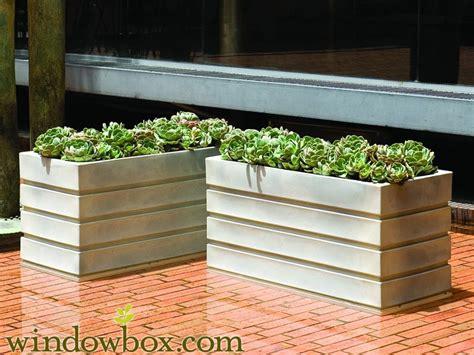 elmhurst  rectangular planter resin  fiberglass