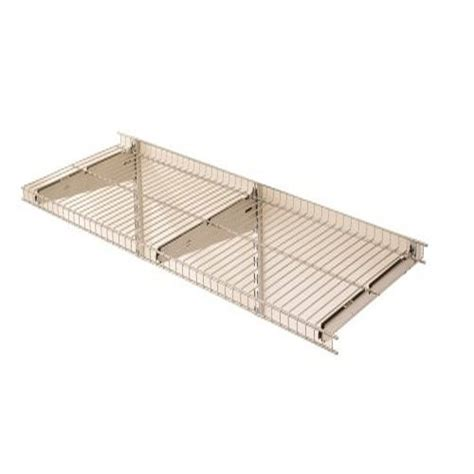 features of rubbermaid 5e21 fasttrack 48 by 16 inch wire shelf
