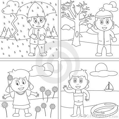 seasons coloring pages preschool seasons coloring pages four seasons coloring pages for