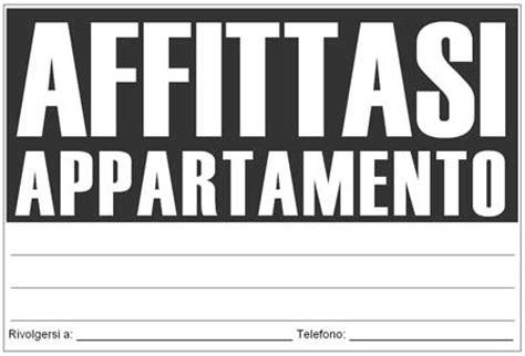 cartello affittasi appartamento cartello affittasi da stare