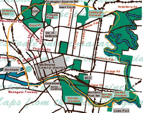 capital bike map map of capital city bike trail melbourne australia in festivale s pictorial guide to