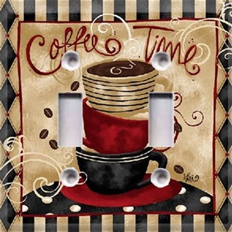 coffee time light switch cover kitchen decor choose your plate style ebay