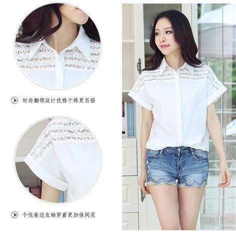 Blouse Putih Lucu blouse putih korea terkeren 2015 myrosefashion