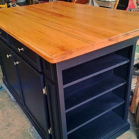 birch kitchen island hometalk kitchen island made from 3 4 quot birch plywood and 1 quot oak board top