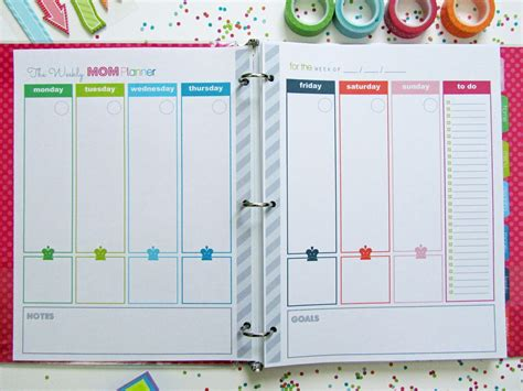 free printable planner pages for moms clean life and home the mom planner printable home