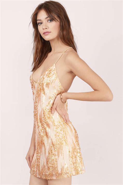 In Gold Dress gold dress sequin dress metallic gold dress shift