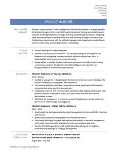 Produce Manager Resume Product Manager Resume Samples Templates And Tips