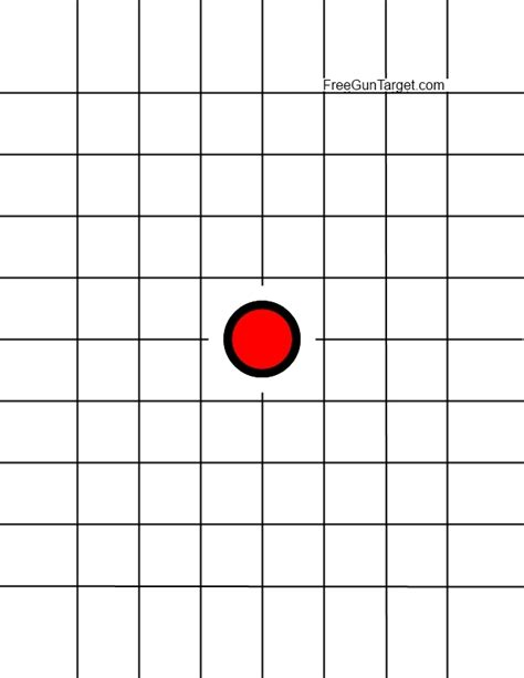 printable dot targets printable rifle targets