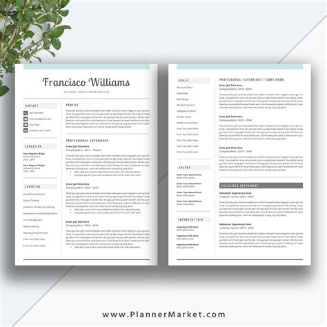 25 word professional resume template free download free