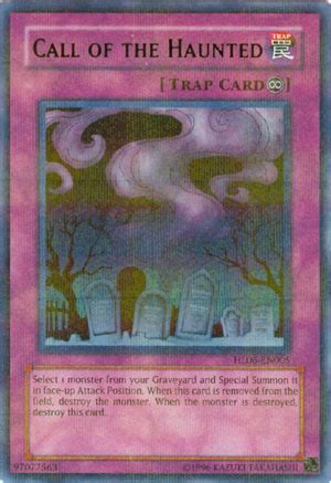 Yugioh Call Of The Haunted Original card call of the haunted parallel holo hl06 en005 yu gi oh singles 187 yugioh