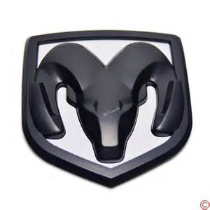 black white grill trunk tailgate emblem badge for