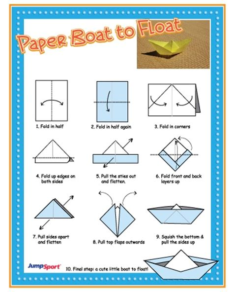 Folding Paper Boats That Float - pin by melanie hickey on craft ideas