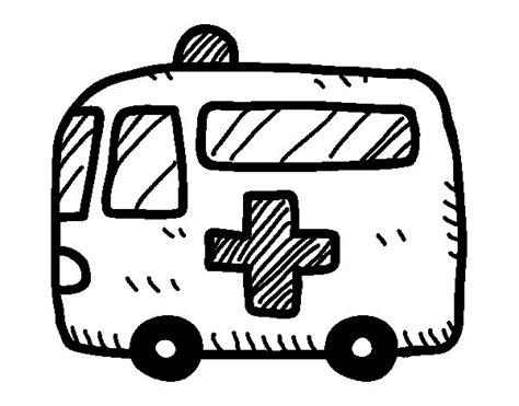disegno di croce rossa ambulanza da colorare acolore com