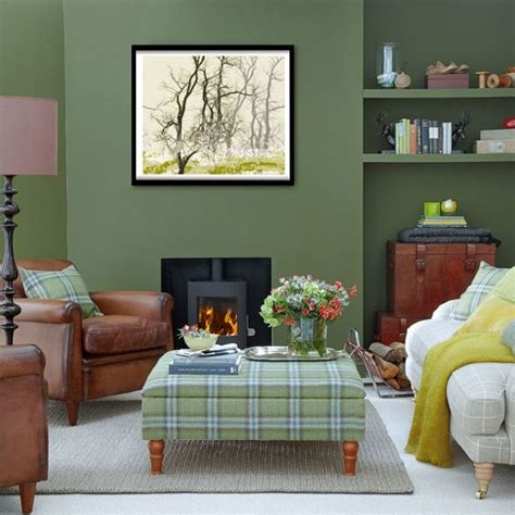 Green Livingroom Forest Green Living Room Green Living Rooms Living Room