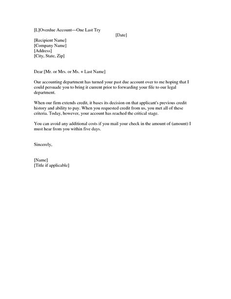Past Due Invoice Letter Template Resume Builder Email Collection Template