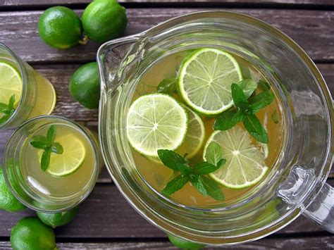 Green Tea Mint Lime Detox Water by Mint And Lime Iced Green Tea One Ordinary Day