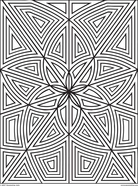 geometric designs to color geometric coloring pages coloring pages