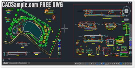 House Plan Symbols by Swimming Pool Free Dwg 187 Cadsample Com