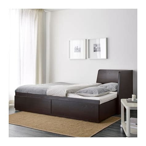 bett matratze 80x200 flekke day bed frame with 2 drawers black brown 80x200 cm