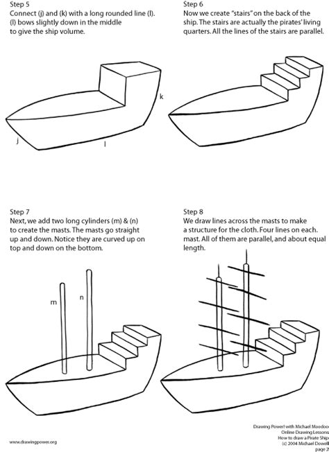 how to draw a pirate ship doodle index of lessons pirate ship