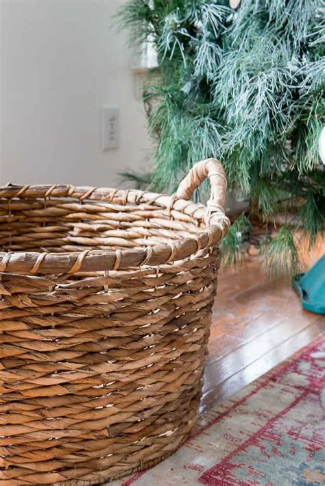 how to put christmas tree in a basket i show you the easy