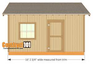Chicken Hutch Design 12x16 Shed Plans Gable Design Construct101
