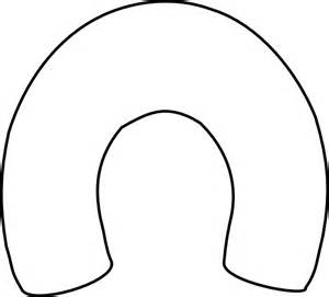 Outline Of A Horseshoe white horseshoe outline clip at clker vector clip royalty free domain