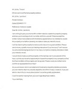 Landlord Agreement Template by Sle End Of Tenancy Letter From Landlord Uk Notice Of