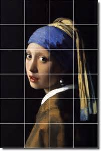 vermeer the with the pearl earring painting johannes vermeer ceramic tile mural 7