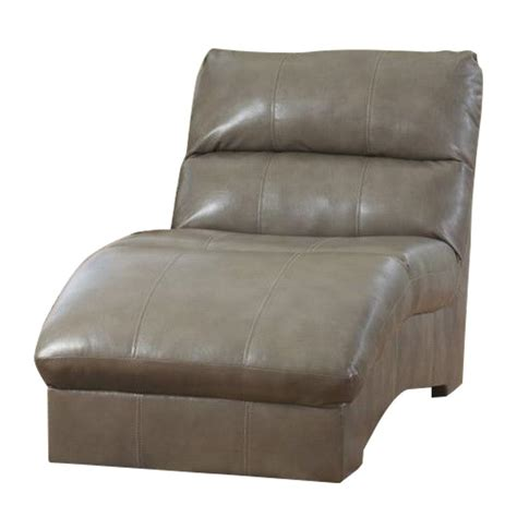 ashley furniture leather chaise ashley furniture paulie leather chaise in quarry 2700115