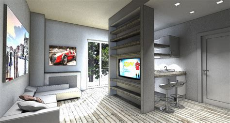 Interior Design Cucine by Interior Design Piccola Zona Living In 20mq