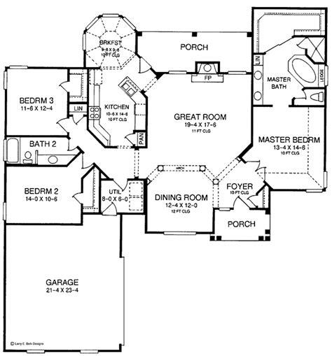 european floor plans european style house plan 3 beds 2 baths 1955 sq ft plan