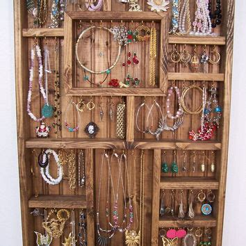 Handmade Jewelry Display Ideas - jewelry display handmade wood wall from