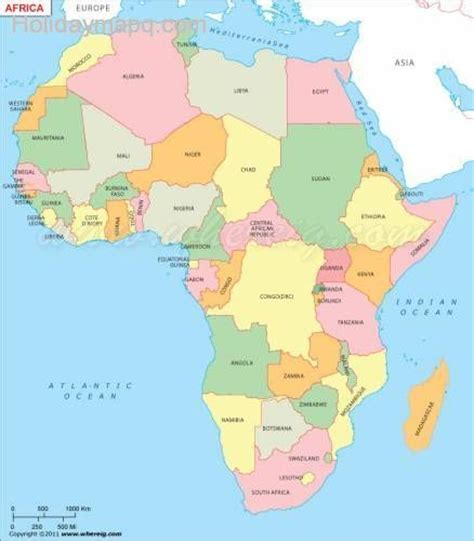 map of africa with country name map of africa map travel holidaymapq