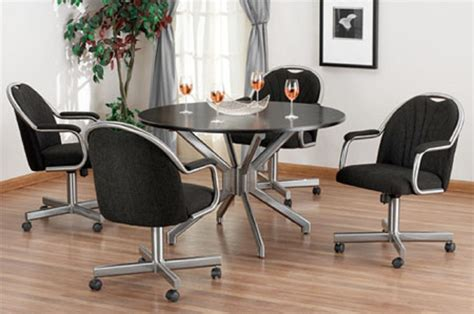 Dining Room Chair Casters by Dining Room Chairs On Wheels Intended For Your Property