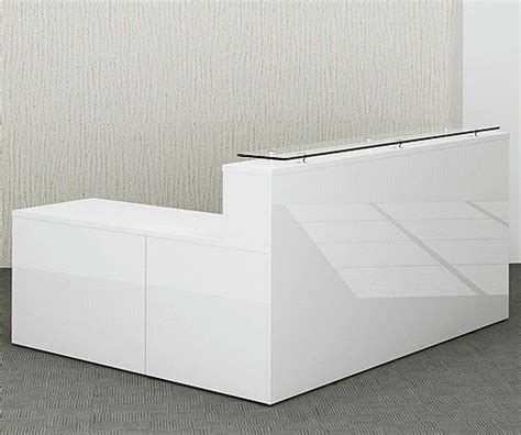 Gloss White Reception Desk Gloss White Reception Desk Glossy Office Reality