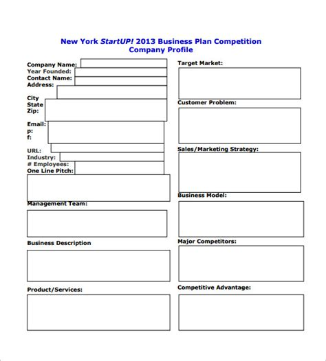 businesses plan templates startup business plan templates 15 free word pdf