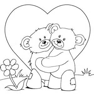 teddy coloring pages teddy bears cuddling coloring page coloring