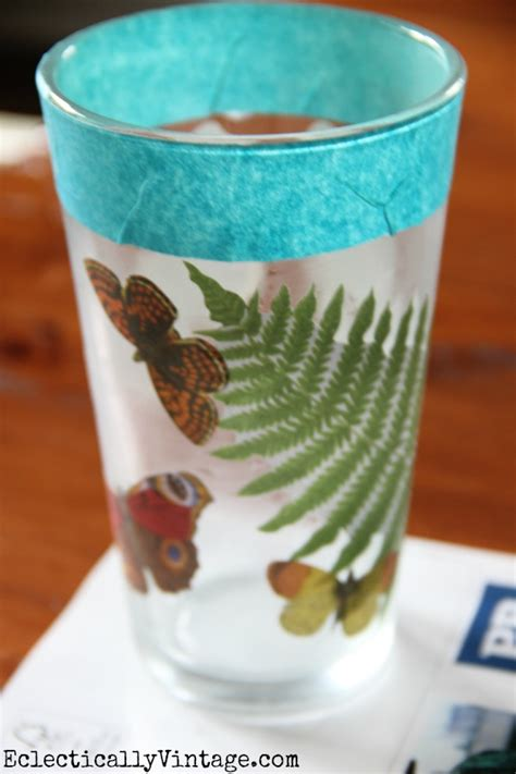 Decoupage Glass - 40 decoupage ideas for simple projects