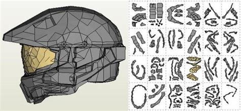 Master Chief Papercraft - papermau halo 4 master chief helmet paper model by