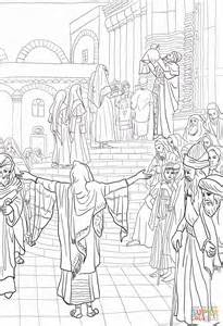 coloring pages baby jesus in the temple presentation of jesus in temple coloring page free