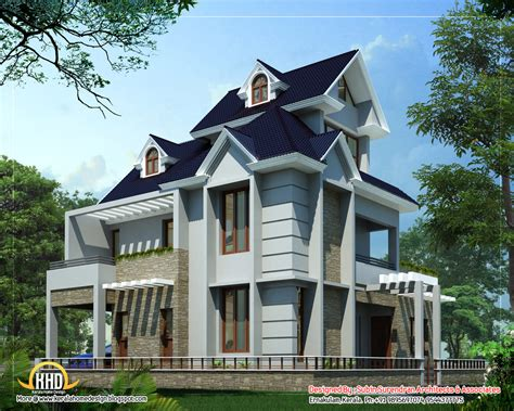unique homes plans unique home design 2012 sq ft kerala home design and