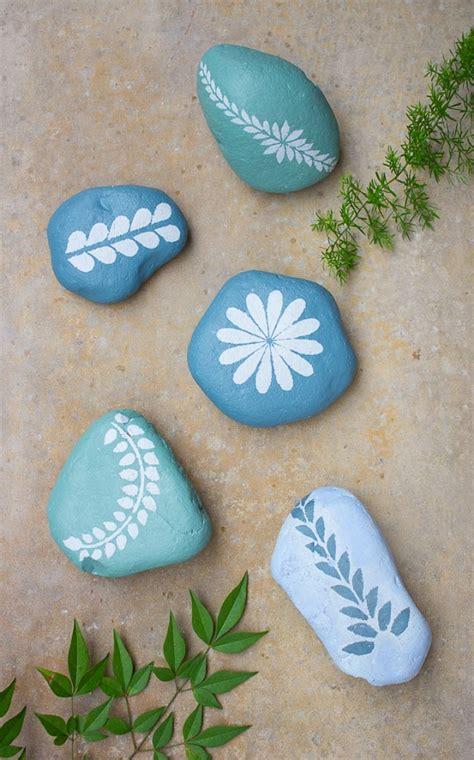 diy garden stones painted  chalk paint real  origin