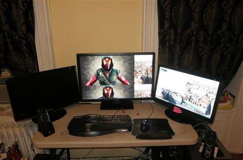 desk for 3 desk for 3 monitors ideas greenvirals style