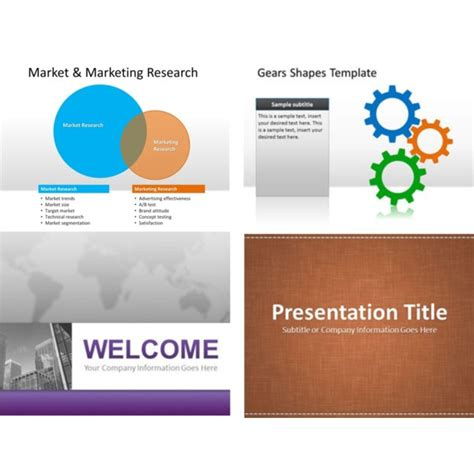 business powerpoint ppt presentation templates free