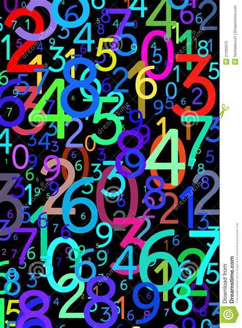 imagenes matematicas hd n 250 meros coloridos abstractos foto de archivo libre de