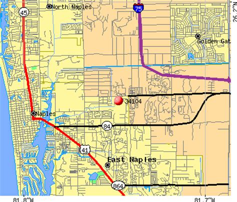 zip code map naples fl 34104 zip code naples florida profile homes